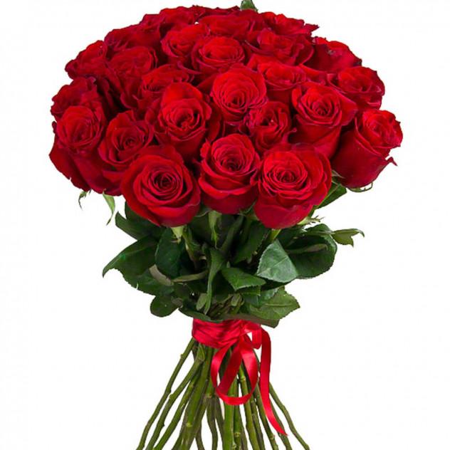 Букет 25 крупных роз